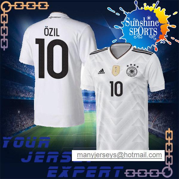 MULLER Home white Away gray 2018 jersey SCHWEINSTEIGER OZIL REUS KROOS 17 18 Black goalkeeper NEUER 2017(China (Mainland))