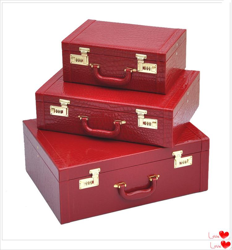 Red Vintage Suitcase Red Married Box Vintage Box