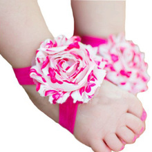 1 Pair Baby Infant Barefoot Toddler Foot Flower Band Newborn Girl Socks Foot Wear First Walkers #10(China (Mainland))