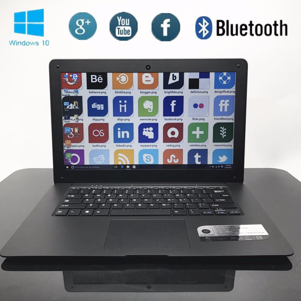 Bluetooth 14inch Laptop PC Computer Notebook Windows10 Qual Core In-tel Atom X5-Z8300 4G 64G EMMC Wifi Webcam PC Tablet USB3.0
