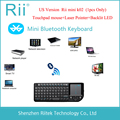 2015 RII K02 3IN1 MINI Wireless Bluetooth Keyboard Laser Pointer Touchpad Backlit Keyboard for PC Andorid