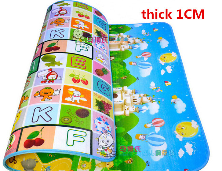 Baby Play Carpet EVA Mat 180*150*1cm Double Sided Baby Play Mat Alfombra Infantil Baby Playmat Children Rugs Play Gym Kid Carpet(China (Mainland))