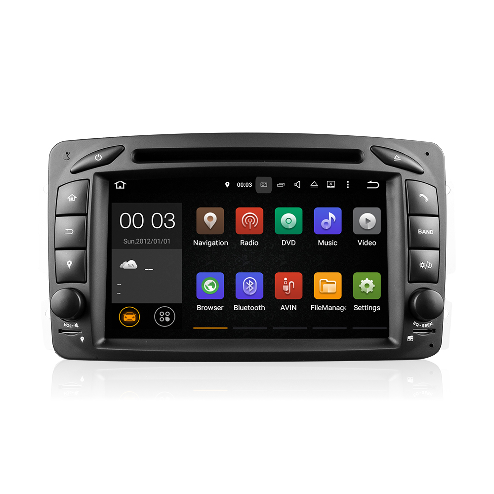 Android5.1.1 quad-core 7inch 1din car DVD player fit for old Mercedes-Benz C-class with 3G WiFi GPS bluetooth AM/FM RDS DU7063(China (Mainland))