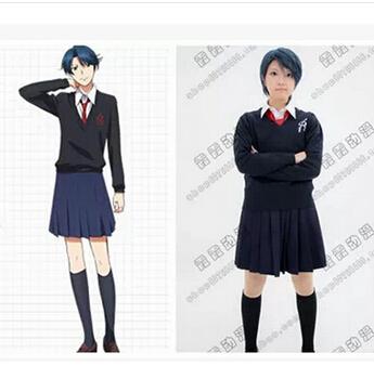 Anime new Gekkan Shojo Nozaki Kun cosplay costume lolita punk school uniform Haruno Sakura girls skirt high school costume Одежда и ак�е��уары<br><br><br>Aliexpress
