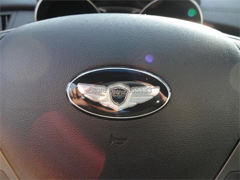 Modern Lawns turning the steering wheel to the center of the disc labeled GENESIS Coupe stickers GENESIS SEDAN 3.8 V6 KDM(China (Mainland))