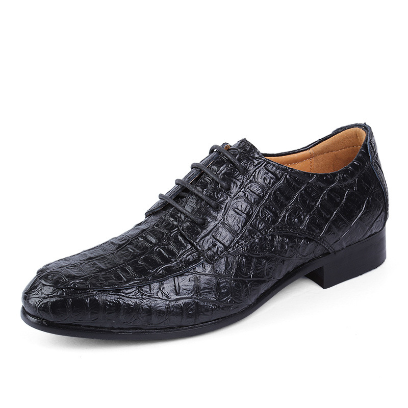 Men Flats Shoes Fashion 2016 British Style Men's Crocodile Pattern Casual Genuine Leather Shoes Men Brand Oxfords Large Size 2A(China (Mainland))