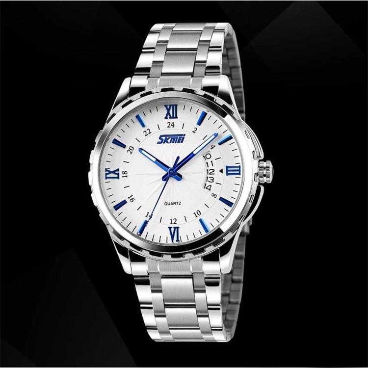 Fashion Stainless Steel Men Watches Top Luxury Brand SKMEI Clock 3ATM Relogio Masculino Men Quartz Wristwatch