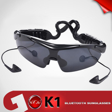Fashion K1 Smart Bluetooth Sunglasses Glasses 2016 Hot Touch Function Sport Headset Headphone With 3lens Musin for Smartphones
