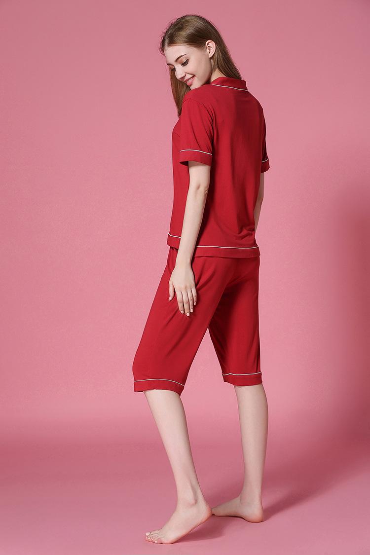 Пижамные комплекты женские пижамные большого размера с v образным вырезом и undefined