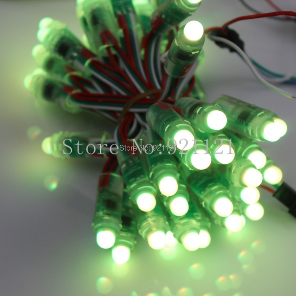 GoesWell WS2811 Addressable LED Strings Digital Changeable DC5V IP65 Backlight Outdoor Advertising Pixel LED Modules 100pcs/Lot(China (Mainland))