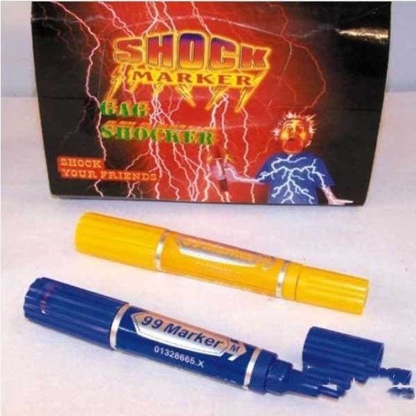 Everson Electric Shock Trick Gag Marker Pen Toy Joke Funny Gift(China (Mainland))