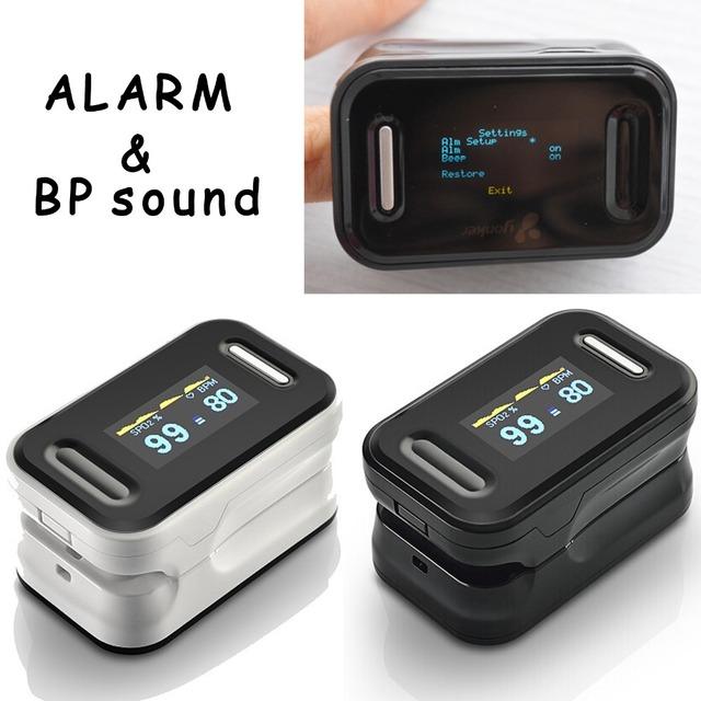 Охранной сигнализации здравоохранения OLED дисплей нажатием пульсоксиметр, Oximetro ...
