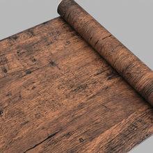 Старая мебель деревянные наклейки на стену ПВХ самоклеющиеся наклейки на стены мебель шкаф дверь декоративные обои домашний декор(China)