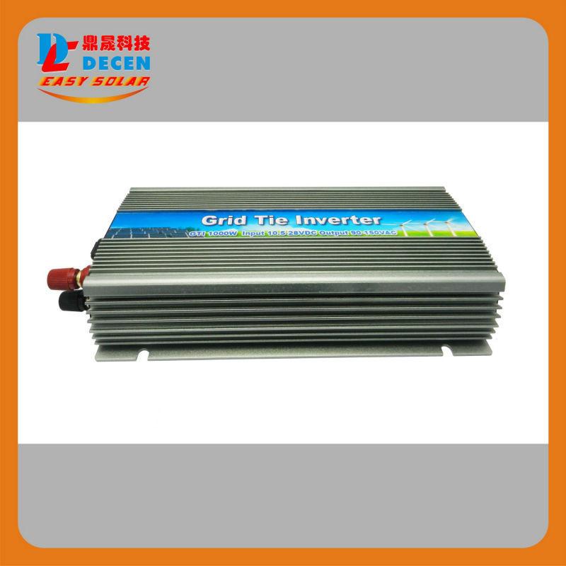 DECEN@ 22-50V 4PCS 1000W Pure Sine Wave Solar Grid Tie MPPT Inverter, Output 90-140V.50hz/60hz, For Home Alternative Energy(China (Mainland))