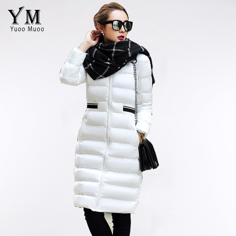 Winter Coats Jackets Woman 2015 Long Wadded Jacket Warm Knee-length Womens Parka Elegant Ladies Coat