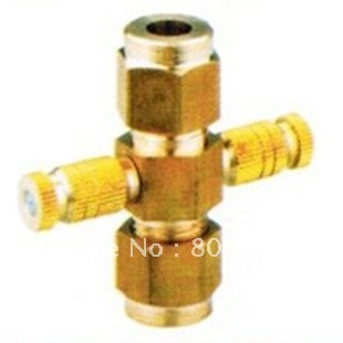 Super Deals for New Year,Direct two-jet,water tap connector, misting system,cooling system, fogger,humidifier