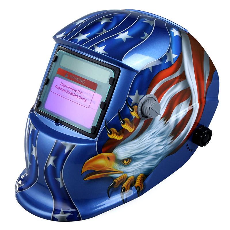 High Performance Welding Mask Solar Auto Darkening Welding Helmet cap Arc Tig Mig Grinding Eagle Welding &amp Soldering Supplies(China (Mainland))