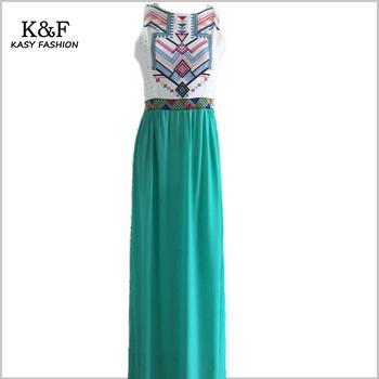 2016 new style summer dress women elegant boho bohemian floral print long maxi beach dress XL evening chiffon vestidos de fiesta