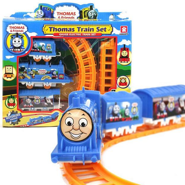 (2 pieces/lot) Thomas train electric eight rail cars tracks mini electric train set toy for kids christmas gift free shipping(China (Mainland))