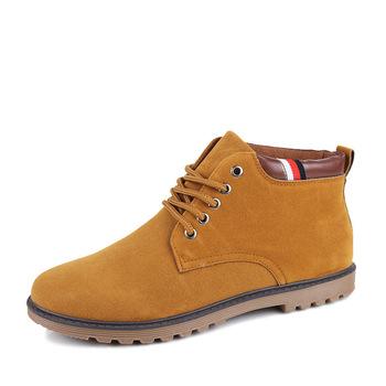 Зима новинка тенденции мужские свободного покроя сапоги высокие кружева-up мужчины туфли-botas удобные мужские ботинки прогулки Zapatos Большой размер ZX0011