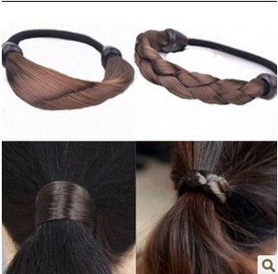 H114 South Korea imported jewelry simulation wig ponytail holder!#1321