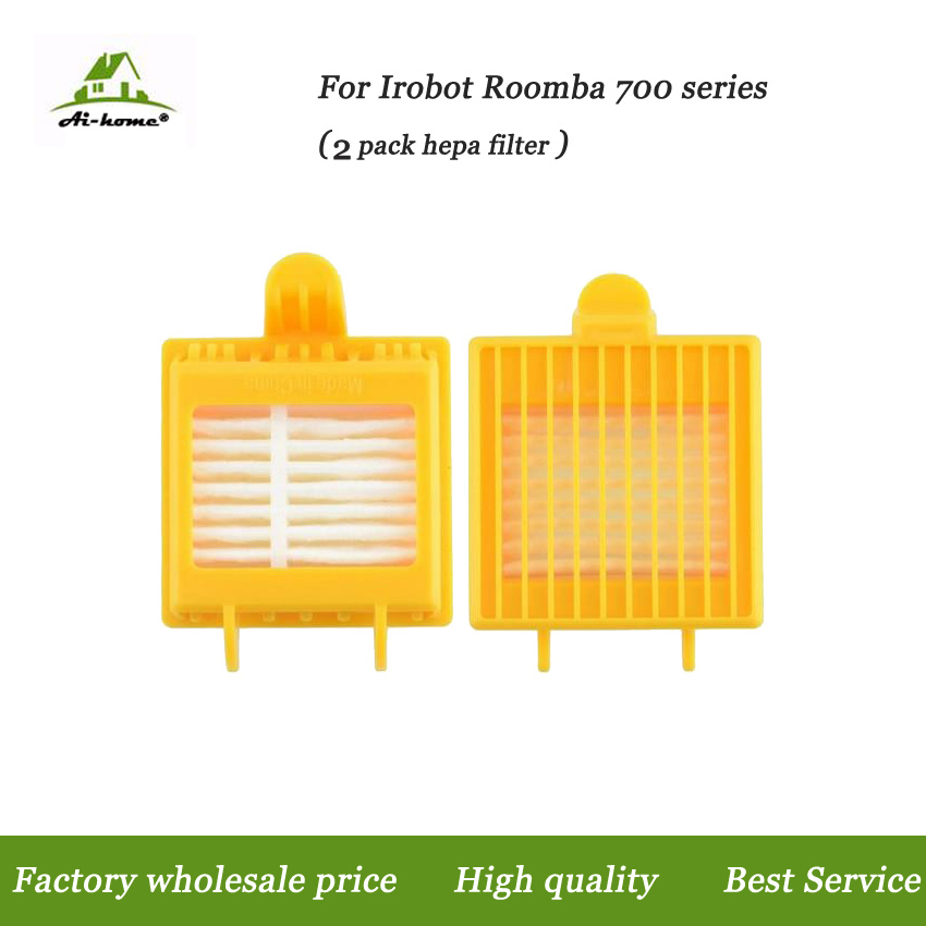 Aihome 2 PACK Hepa Filters Replacement Parts for iRobot Roomba 700 Series 760 770 780 790 Vacuum Cleaner Robots(China (Mainland))