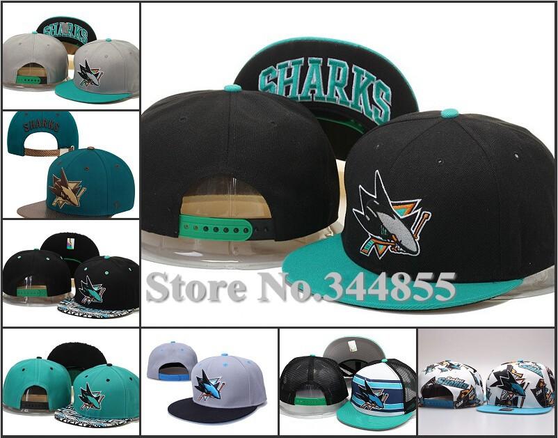 7 Styles San Jose Sharks Flat Snapback Hats Fashion Hip Hop Adjustable Hockey Baseball Team Logo Embroidery Caps(China (Mainland))