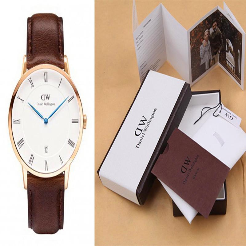 Best Quality Top Brand Daniel Wellington Watch Men Fashion Men Genuine leather calendar DW Watches women
