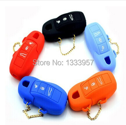 High quality Silicone car key cover remote shell for Carrera 911 997 Panamera 970 Cayenne S GTS Turbo FREE SHIPPING(China (Mainland))