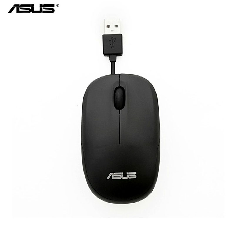 ASUS UT220 Flexible Wired Blue Light Optical Mouse For Laptop Desktop Computer, Optical Mice Black Or White(China (Mainland))