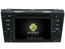 Android 5.1 CAR Audio DVD player gps FOR MAZDA 3 2004-2009 Multimedia navigation head device unit receiver(China (Mainland))