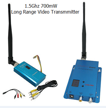 Hot Sale 1.4G/1.5G/1.6G CCTV Video Sender 700mW Wireless Transmitter and receiver with Long Range 1000-1500m(China (Mainland))