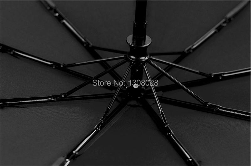 Designers High Quality South Korea Original Brand Automatic 3 Folding Wooden Handle Men Windproof Black Clear