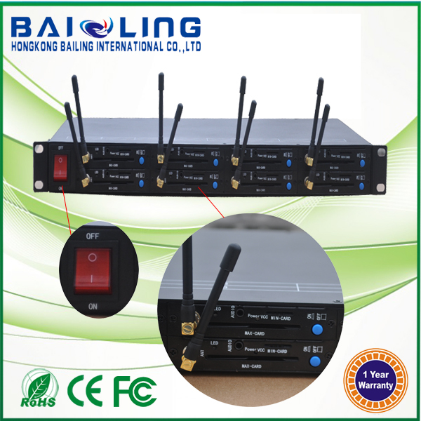 RJ45 interface GSM 8 port 1U modem pool gsm 850/900/1800/1900MHZ modem support tcp ip low price multi sim modem(China (Mainland))