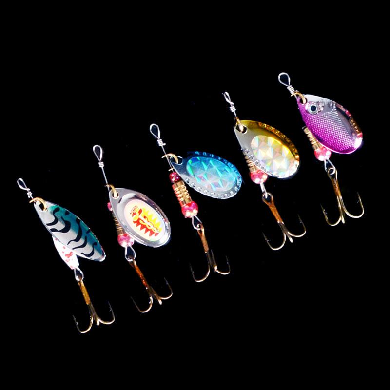 spinner Metal Lures Fishing Hard Bait Fresh Water Bass Walleye Crappie Minnow Tackle SP120SX302 - Li geer Co.,Ltd store