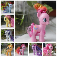 8CM my rainbow horse toys decoration PVC Figures poni Kids Doll colourful model girl's gift(China (Mainland))