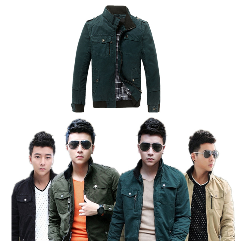 Men jacket fashion brand chaqueta hombre casual hunting clothes long sleeve outerwear military camouflage denim jacket men J8028(China (Mainland))
