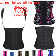 waist training corsets body shapers latex waist cincher underbust Waist training latex waist trainer steel boned corsets women