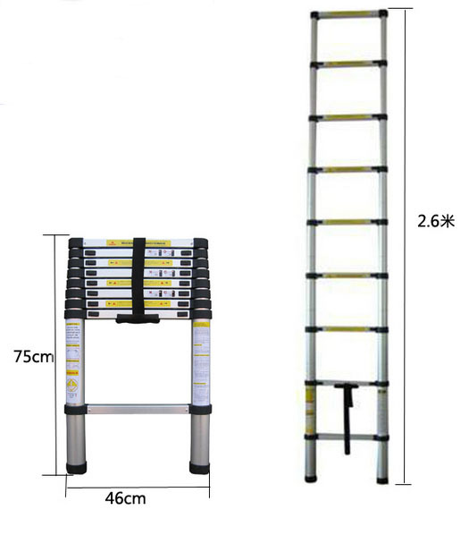 2 6m Home Portable Extension Ladder Multifunction Folding