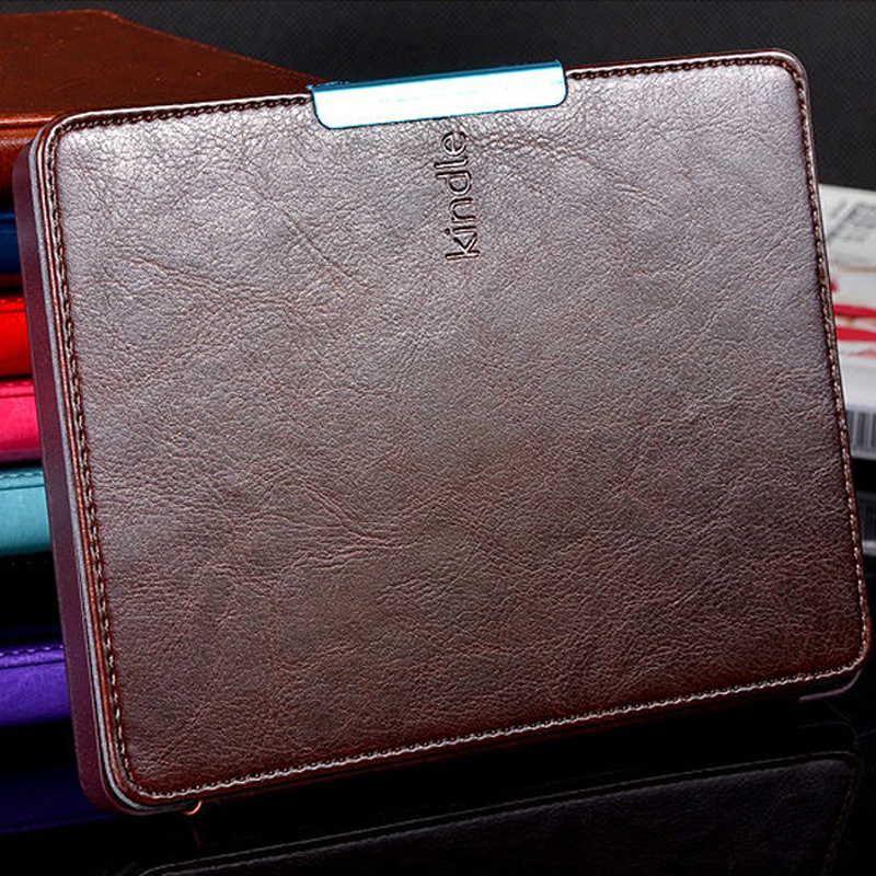 Cover Amazon Kindle Paperwhite 2015 Leather Case Capa 6 inch Magnetic Original 2 3 New 2014 Funda ebook Tablet Accessories - atolla Official Store store