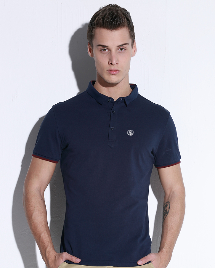 Free shipping new men polo shirts 2016 solid polo shirt for Business casual polo shirt
