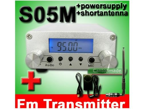 Фотография 0.5W CZH-05B pll 87-108mhz fm transmitter broadcast stereo mic short antenna power KIT free shipping