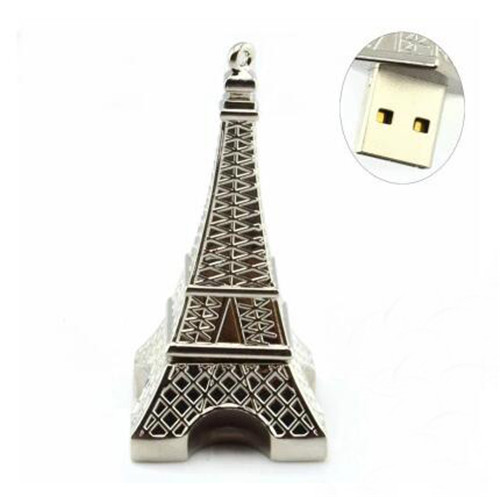 100% real capacity The Eiffel Tower Shape USB 2.0 Flash Memory Pen Drive Stick pendrive S909(China (Mainland))