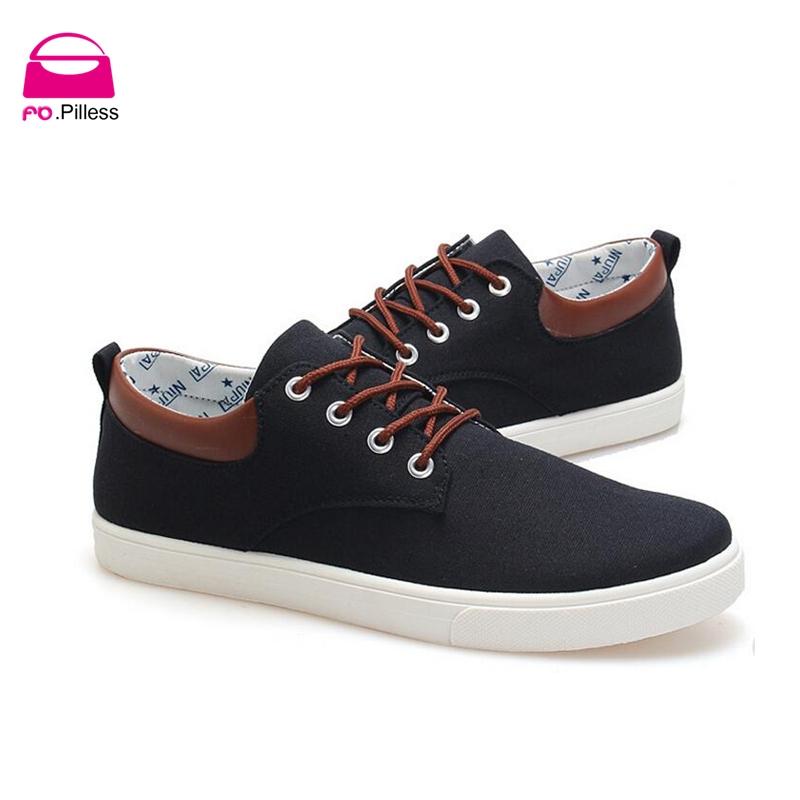 La primavera de 2015 nuevos hombres de lona zapatos de encaje moda britnica de corea solid men ' s informal shoes(China (Mainland))
