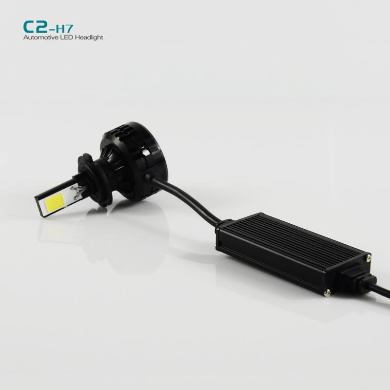 Купить 1 компл. C2 H7 72 Вт из светодиодов авто фар 6600LM из светодиодов головной свет лампы 6000 К из светодиодов фары автомобиля лампа DC9-16V