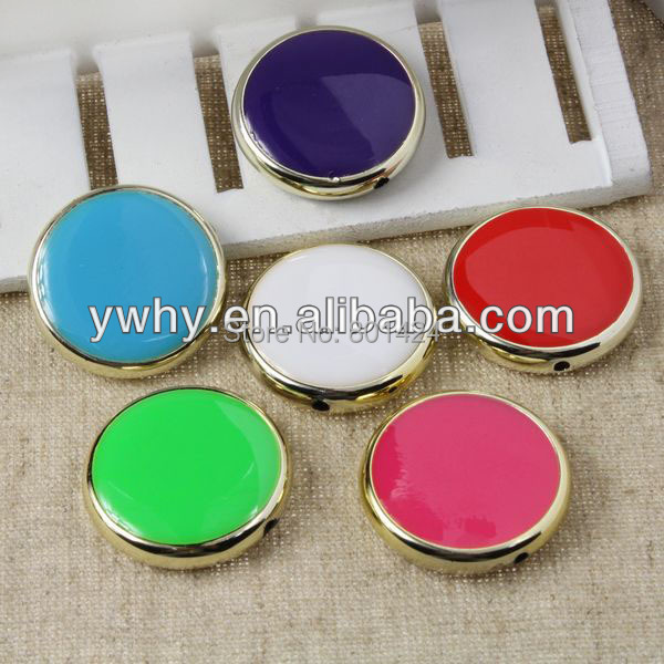 free shipping 15pcs 81-106 30mm enamel acryli cfour - leaf clover colourful beads enamel connector for fashion jewelry(China (Mainland))