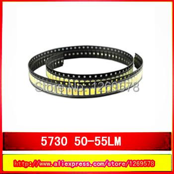 100pcs lot 5730 led 0 5W 50 55lm 6500K White Light SMD 5730 LED 3 2