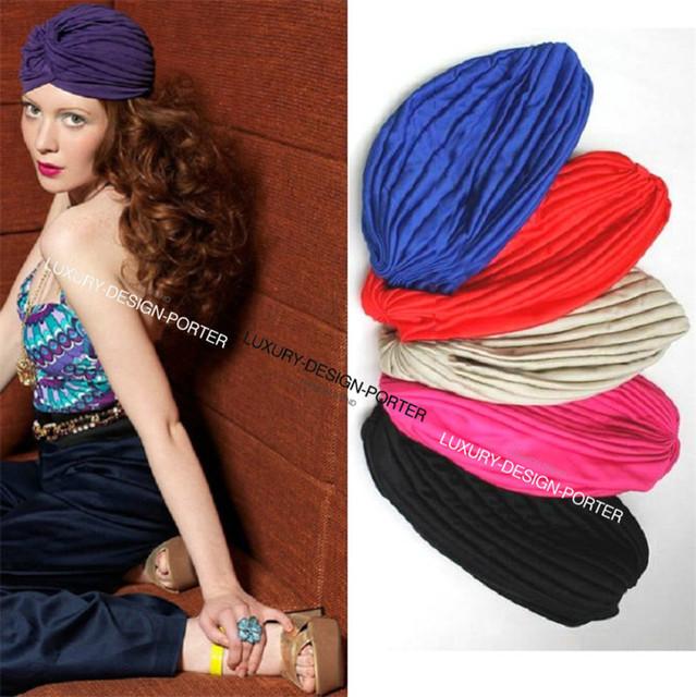 Многоцветный дизайнерский бренд цыганский тюрбан стрейч повязка на голову тюрбане тюрбан знаменитости любят
