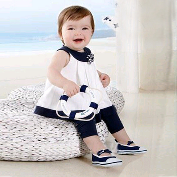Baby 0-3 Years Kids Girls Tops+Pants 2 PCS Clothing Set Outfits Flowers Shirts Clothes Sets