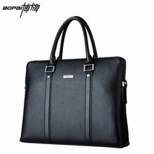 Cowhide Genuine Leather Briefcase 2016 New Leather Laptop Bag Men Bag Handbags Business Portfolios Man Shoulder Bag Travel Bags(China (Mainland))